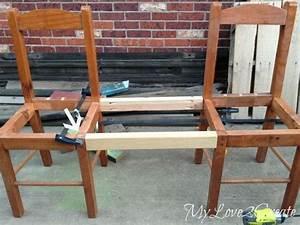 Stuhl Polstern Anleitung : using scrap wood to make two chairs into a bench bhg 39 s best diy ideas pinterest m bel ~ Markanthonyermac.com Haus und Dekorationen