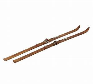Found Wooden Skis - Set of 2 Pottery Barn