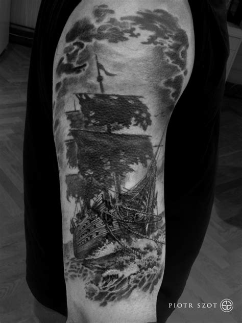 Ghost Ship Tattoo | Best tattoo design ideas
