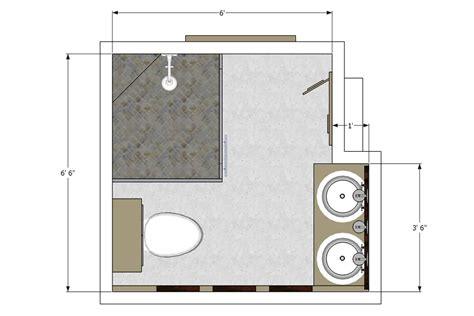 master bathroom layout and floor plans design with walk in