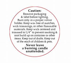 printable warning labels for candles made by creative label With free printable candle warning labels