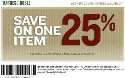 Barnes And Noble 25 by Barnes And Noble Coupon Code For 25 One Item