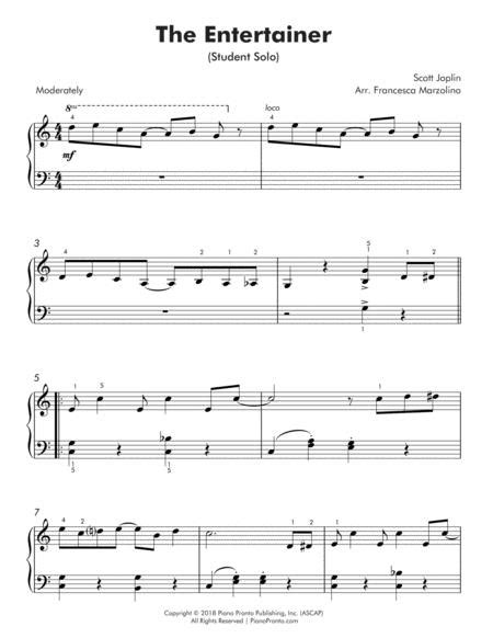 Correlates to piano pronto method books: The Entertainer Easy Piano With Duet Sheet Music PDF Download - coolsheetmusic.com