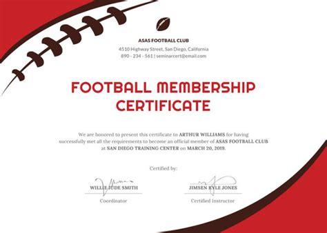 sports certificate templates  sample