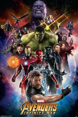 avengers infinity war space regular poster