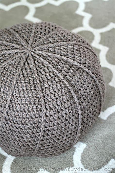 crochet pouf ottoman pattern free free crochet floor pouf pattern 187 dragonfly designs