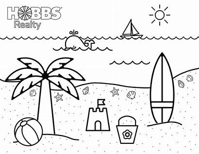 Coloring Beach Pages Colouring Sunset Landscape Lol