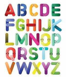 cartoon english alphabet free vector graphic download With photo letters free