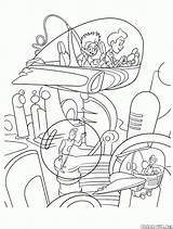 Coloring Colorare Tiempo Tempo Viaggio Machine Colorear Viaje Robinsons Temps Macchina Dans Voyage Orario Zeitreise Traveling Disegni Meet Dibujos Viagem sketch template