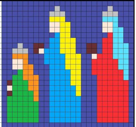 crochet wise men graph christmas cross stitch cross