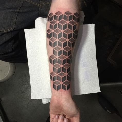 grey cubes tattoo  arm  tattoo ideas gallery