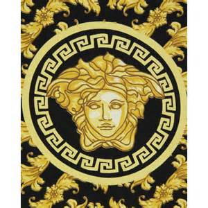 Black and Gold Versace Logo