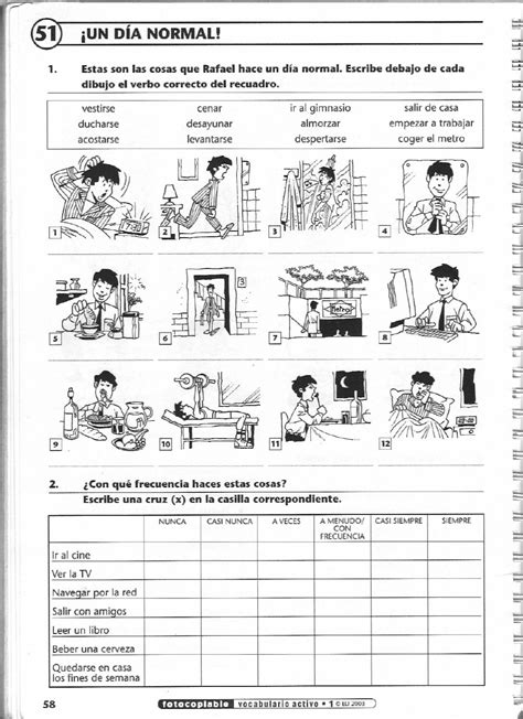 issuu vocabulario activo 1 fichas con ejercicios