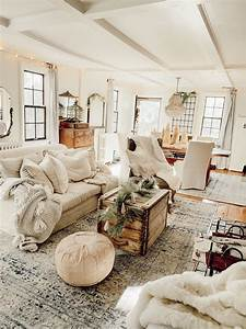 Neutral, Rustic, Cozy, Cottage, Farmhouse, Christmas, With