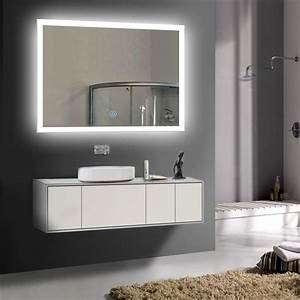 led bathroom wall mirror illuminated lighted vanity mirror With miroir led design