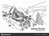 Machu Picchu Peru Perspective Province Sketch Illu Vector3d Shutterstock sketch template