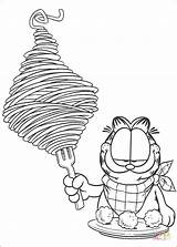Garfield Coloring Spaghetti Pages Eating Colour Cake Pan Paint Printable Drawing Cartoons Cartoon Silhouettes Paper Coloringpages101 Supercoloring Diabetesdaily Pintar Colorir sketch template