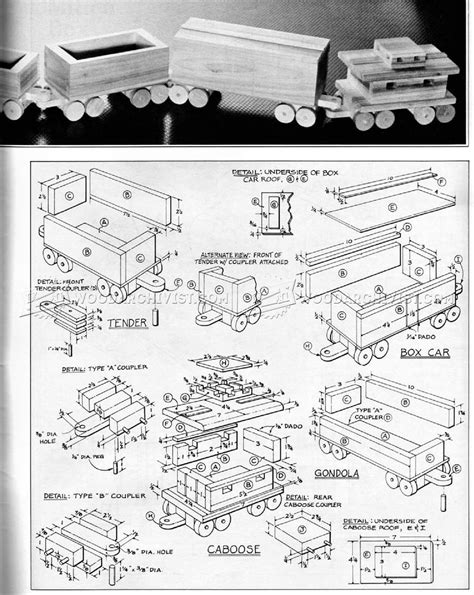 wooden train plans woodarchivist