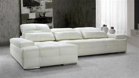 canapé d angle blanc cuir canape design angle cuir blanc nobel01 xl mobilier cuir