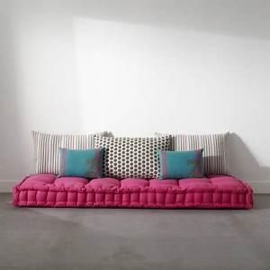 Matelas futon coussin de sol capitonne detente et for Chambre ado garçon avec futon epais