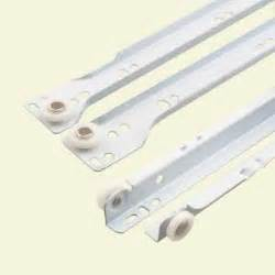 bottom mount drawer slides prime line 17 3 4 in white bottom mount drawer slides set
