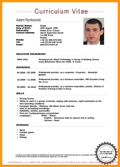 Curriculum Vitae Format Exle by Professional Resume Sles Pdf Resume Sle