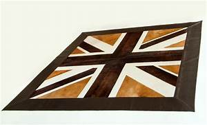 tapis quotunion jackquot brun beige et blanc brown beige and With tapis union jack
