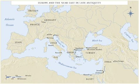 map  europe    east  late antiquity