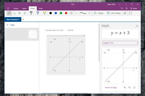 rolling tool onenote 39 s windows 10 app brings the ability to graph math