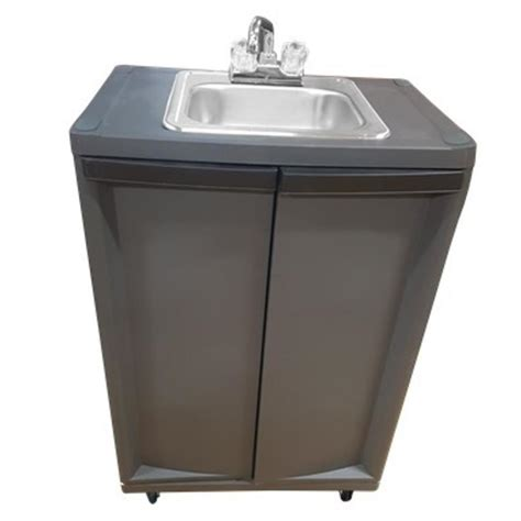 kitchen sink portable shop monsam gray single basin stainless steel portable 2834