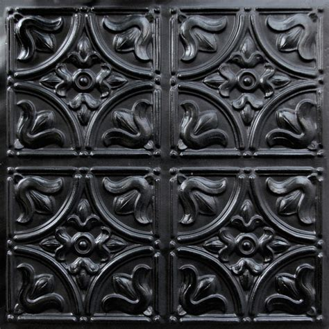 Decorative Ceiling Tiles 24x24 by 148 Faux Tin Ceiling Tile Glue Up 24x24 Black Ceiling
