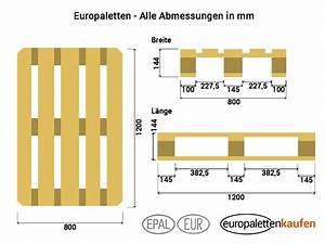 Wie Groß Ist Eine Europalette : 1000 ideen zu ma e europalette auf pinterest ~ Whattoseeinmadrid.com Haus und Dekorationen
