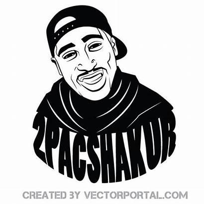 Vector Rapper Pac 2pac Shakur Vectors Clip