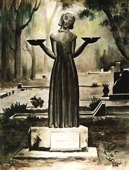 midnight in the garden of and evil statue and evil statue print litho