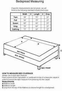 Fabric Measurement Conversion Chart How To Measure For A Custom Bedspread Sewing Quilt