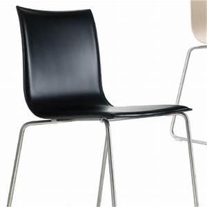 Esszimmerstuhl Grau Leder : lapalma thin s16 stuhl leder schwarz wei braun edelstahl design ~ Sanjose-hotels-ca.com Haus und Dekorationen