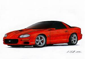 2002 Chevrolet Camaro SS Drawing by Vertualissimo ...