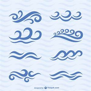 Wave icons vector set Vector | Free Download