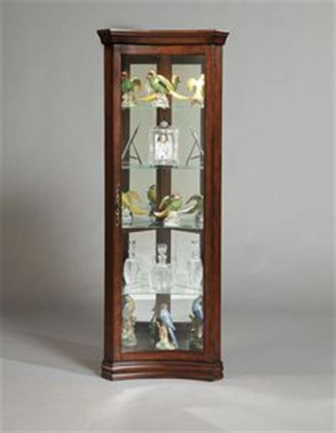 Pulaski Concave Corner Curio Cabinet by 1000 Images About Narrow Cabinets On
