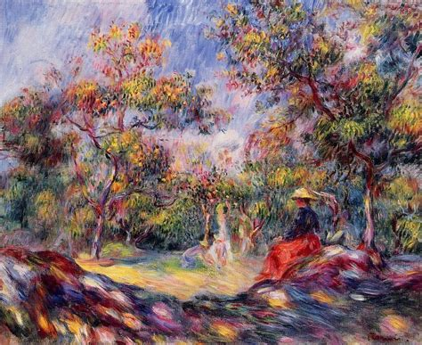 Femme Dans A Paysage 1 De Pierre Auguste Renoir 1841 1919