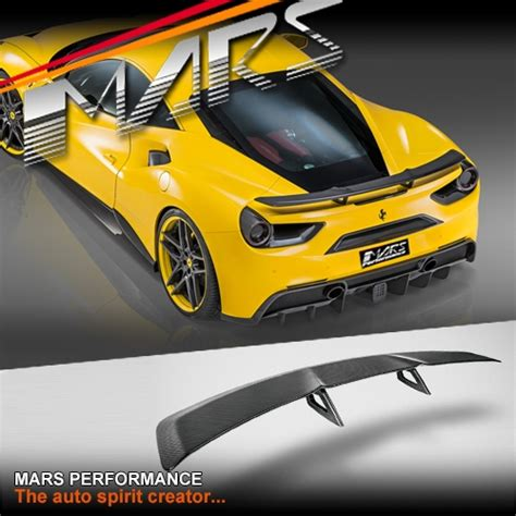 The engineers have saved 18 kilos in the engine alone. Novitec Style Carbon Fibre Rear spoiler wing for Ferrari 488 GTB & Spider | Mars Performance