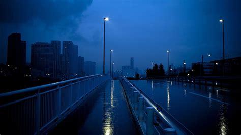 sidewalk bridge with lights hd aesthetic wallpapers
