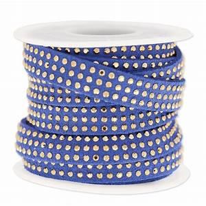 Band Mit M : suede band mit strasssteinen 10 mm blue goldfarbenx 3 m perles co ~ Eleganceandgraceweddings.com Haus und Dekorationen