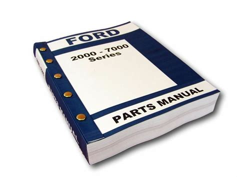 ford      series tractor parts manual