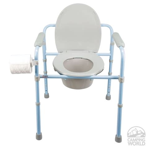 deluxe folding commode carex health brands b34100