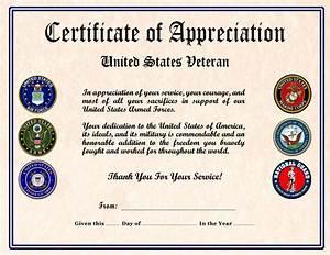 Veterans certificate of appreciation cjm military certificates for Veterans certificate of appreciation