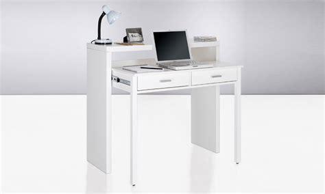 bureau console extensible 2 en 1