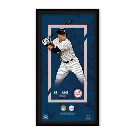 aaron judge uniform ny yankees player profile game used dirt uniform
