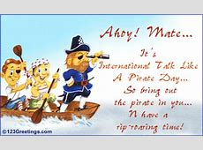 Intl Talk Like a Pirate Day Cards, Free Intl Talk Like a