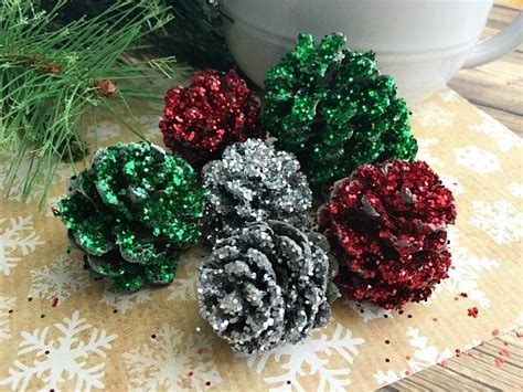 pine cone crafts pinecone christmas decorations diy